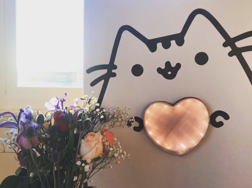 February Make: Pusheen Heart